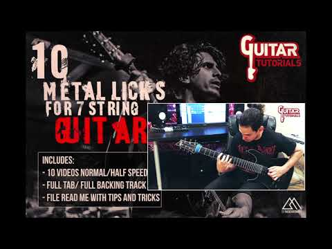 Israel Romero Pérez  - 10 Metal Licks For 7 String Guitar
