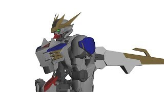 Modeling Barbatos Rex Papercraft Part 4