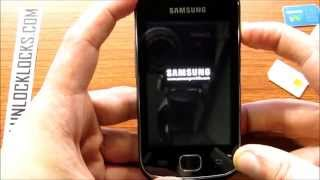 How To Unlock Samsung Galaxy Gio S5660 By Unlock Code From UnlockLocks.COM