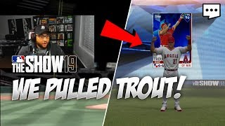 Mike Trout Reaction & Debut!  MLB The Show 19 diamond dynasty pack opening