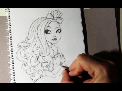 Cómo dibujar a Apple White de Ever After High paso a paso - YouTube