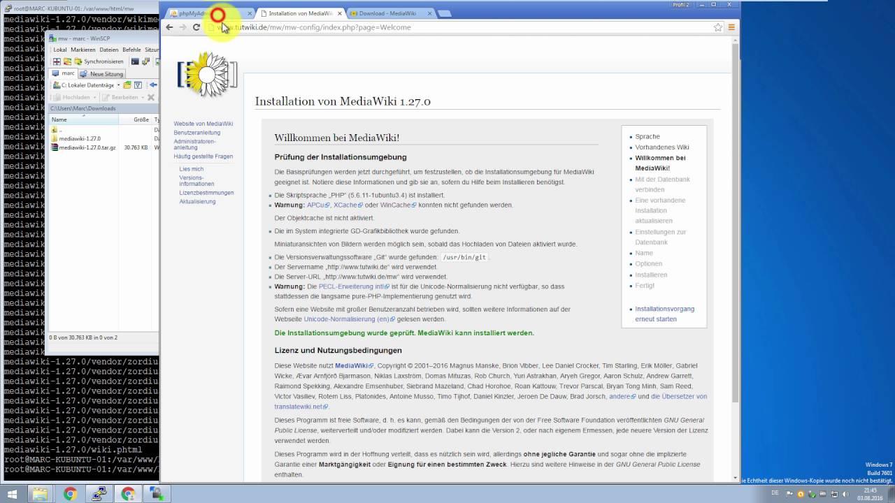 Das eigene Wiki #01: MediaWiki auf dem Webspace installieren - YouTube