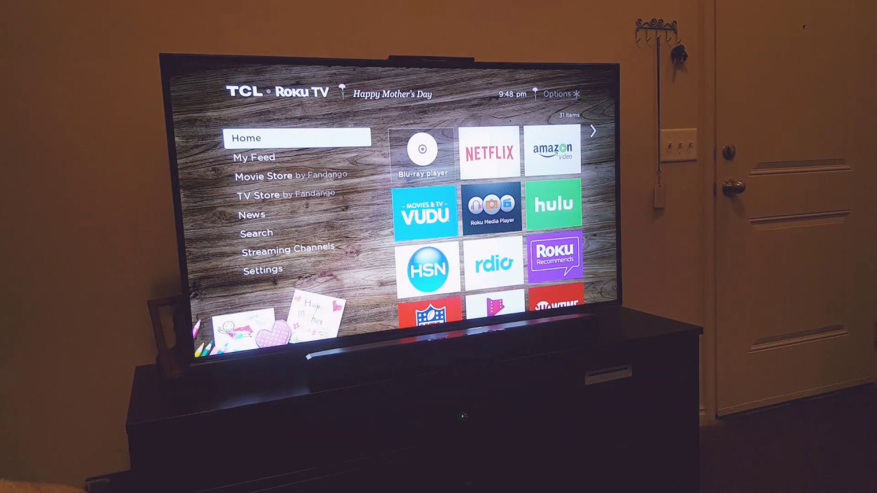 Roku tcl tv voice turn on and off