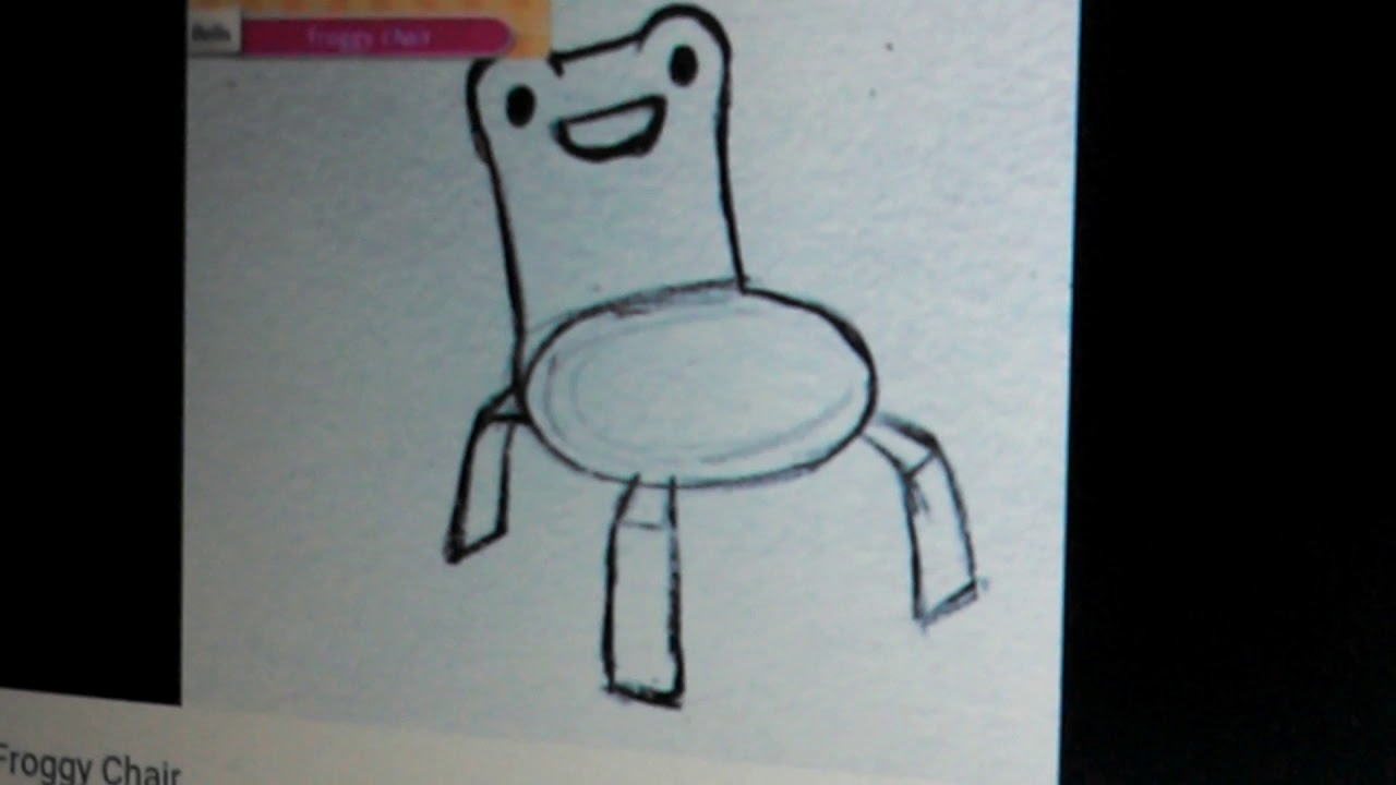 Someone Drawing Froggy Chair Youtube