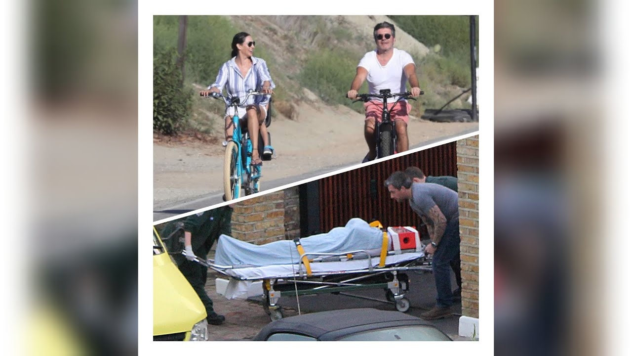 Simon Cowell taken to hospital after breaking his back in bike accident