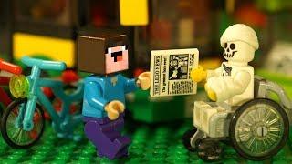 ОПЯТЬ ? ЧТО С БОРЬКОЙ ? Лего НУБик Майнкрафт Мультики - LEGO Minecraft FNAF Animation