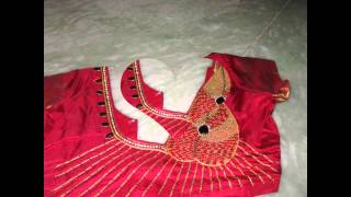 Hand made zardozi & aari work on blouse by Amirtha Part 2