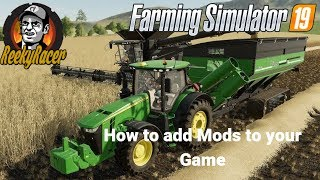 Farming Simulator 19!!! How to install Mods on Steam & PC Version!!!!
