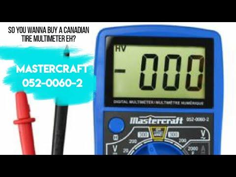 Mastercraft 052 0060 2 CHEAP O Multimeter Review Teardown