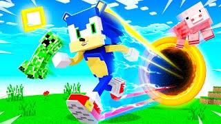Playing MINECRAFT As SONIC (fast)