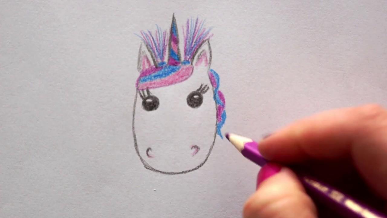 Einhorngesicht Zeichnen Einhorn Malen Fur Kinder How To Draw