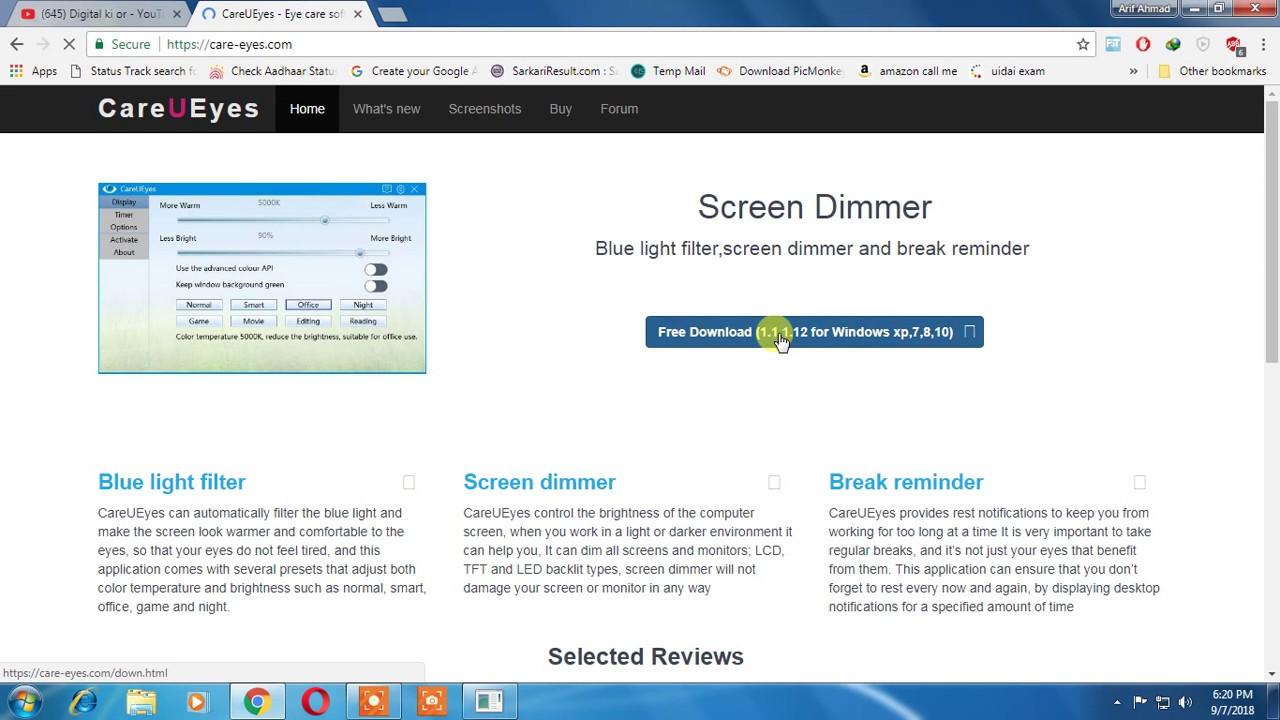 CareUEyes pro crack, screen dimmer pro version