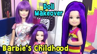 Barbie Chelsea Makeover - Favorite Barbie Becomes a Child - DIY Doll Hairstyles