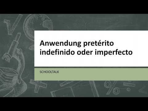 Pretérito indefinido oder pretérito imperfecto? /Spanisch / Vergangenheit / auf deutsch