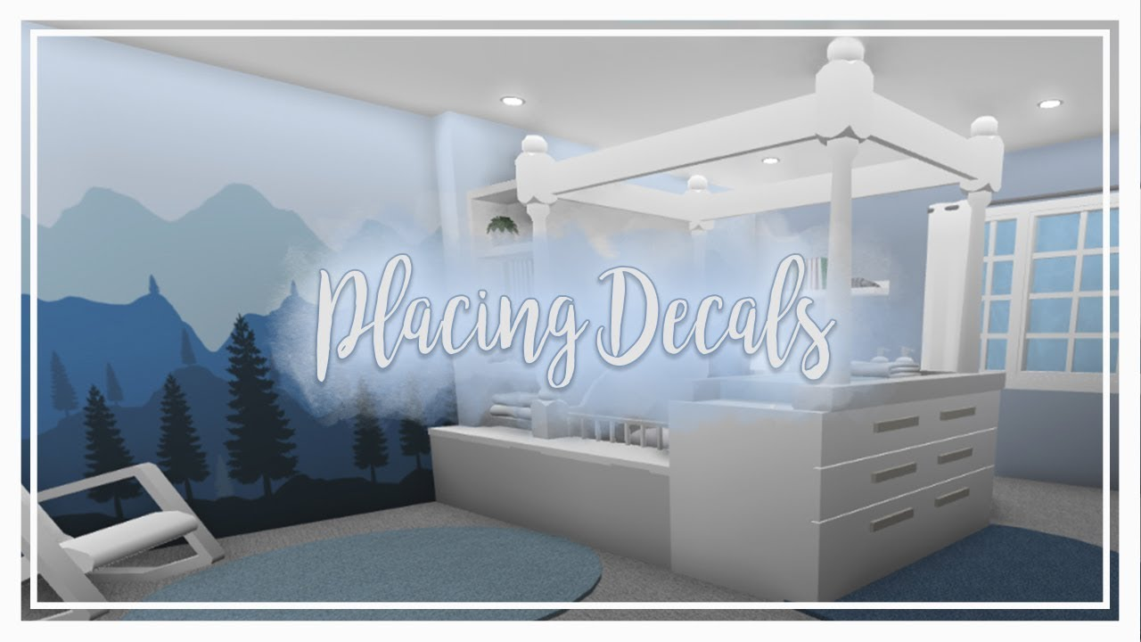 Bloxburg How To Place Wall Decals Youtube