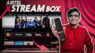 Airtel Xstream Box Unboxing - Smart TV Box + DTH Box In One - Features & Review