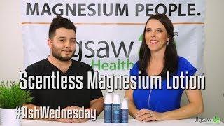 Scent-Free Magnesium Lotion | #AshWednesday