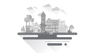 Create Flat Grayscale Cityscape with Illustrator