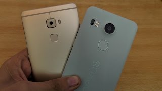 Huawei Mate S vs Nexus 5X Fingerprint Sensor Speed Comparison