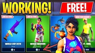 HAVE WORLD WAR SKIN and MARSHMELLO FREE on FORTNITE! (PS4/SWITCH/XBOX/PC)