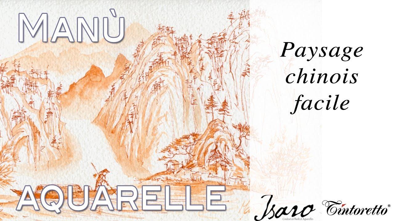 Exceptionnel Paysage chinois facile - Aquarelle de l'Avent #1 - True painting  QL73