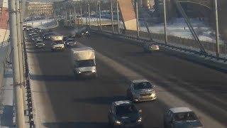 ДТП на Октябрьском мосту
