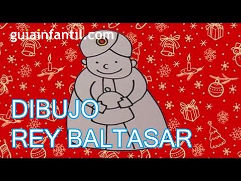 Dibujo infantil de Navidad Rey Mago Baltasar  YouTube