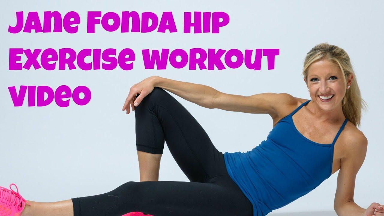 Jane Fonda Inspired Hip Exercise Workout Video  Free, online leg training  routine