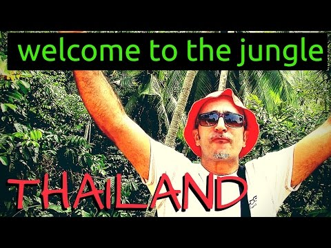 Jungle Hike, Koh Phangan Sramanora waterfall Thailand