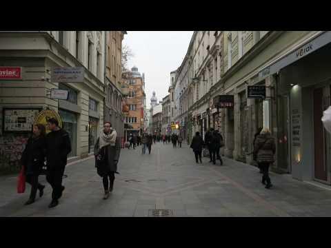One Minute: Ferhadija Pedestrian Street, Sarajevo, Bosnia and Herzegovina
