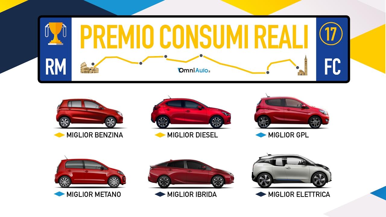 Le Auto Che Consumano Meno Premio Consumi Reali 2017 Youtube