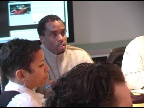 Diddy introduces Ryan Leslie & Cassie to Warner/Atlantic on March 9, 2006