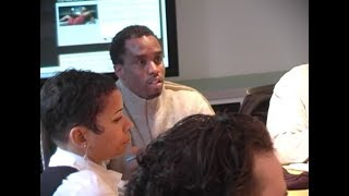 Diddy introduces Ryan Leslie & Cassie to Warner / Atlantic on March 9, 2006