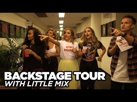Little Mix takes Smallzy on a BACKSTAGE TOUR of their last Australian show!