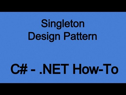 How To Use The Singleton Design Pattern In .NET (C#)