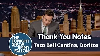 Thank You Notes: Taco Bell Cantina, Doritos