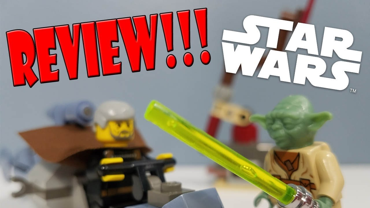 LEGO Star Wars Review : 7103 Jedi Duel (2002 Set) - YouTube