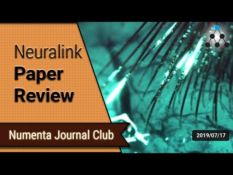 Neuralink Paper Review - Numenta Research Meeting