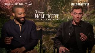 MALEFICENT Chiwetel Ejiofor Ed Skrein On Wigs Extensions amp Fairy Wings