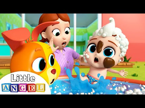 I Don't Want a Bath, No No | Little Angel Kids Songs & Nursery Rhymes