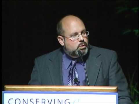 Buddy Huffaker speaks at the Conserving the Future Conference