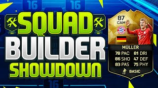 FIFA 16 SQUAD BUILDER SHOWDOWN!!! INFORM THOMAS MULLER!!! Fifa 16 IF Muller Squad Builder Duel
