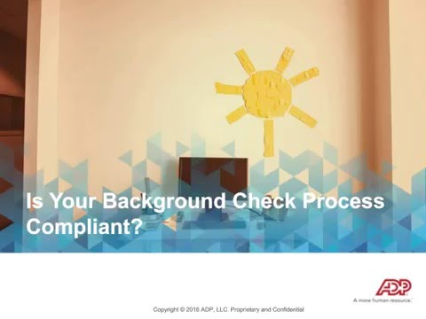 Is Your Background Screening Process Compliant?