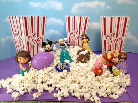 Disney  and Nickelodeon Characters Movie Theater Popcorn and Candy SURPRISE Toys Video
