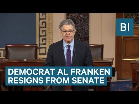 Watch Sen. Al Franken Resign Amid Multiple Allegations Of Sexual Harassment