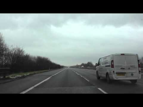 Driving On The M57, M62, M6 & M5 Motorways From Liverpool To Worcester, England 17th January 2016