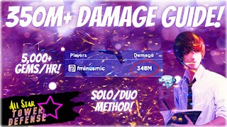 💎 How To Gęt 350+ MILLION Damage In Infinite Mode 💎 - All Star Tower Defense | 5K+ FREE Gems/Hour!