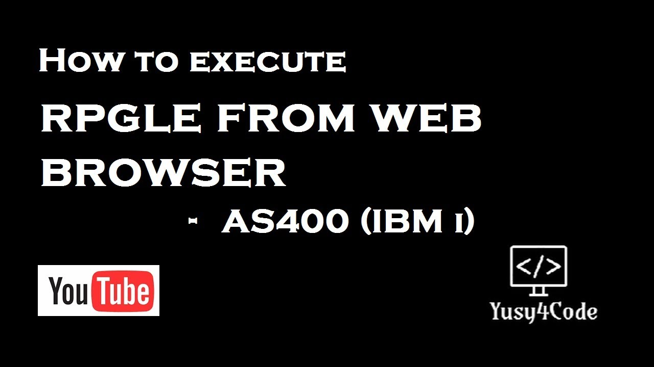 How to execute RPGLE from Web Browser