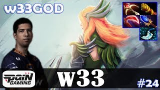 w33 windranger mid w33god 716 update patch dota 2 pro mmr gameplay 24