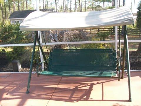 Boscovs Patio Swing Cushion Replacement - YouTube